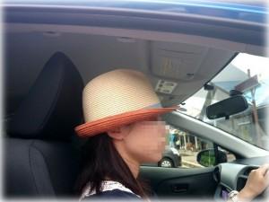 アクア運転席の頭上